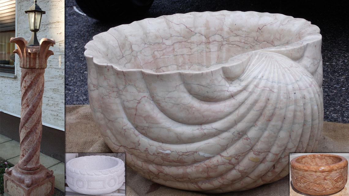 Lavorazione artistica marmi e pietre for Vasi marmo